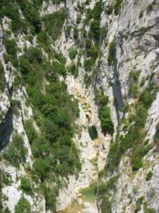 Les gorges du Galamus vu d'en haut Canyoning Pyrénées-Orientales