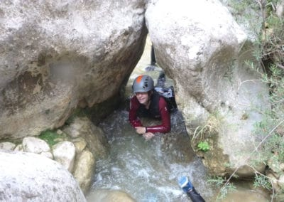 le canyon des gorges du Llech peut s'avérer délicat