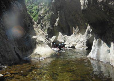 Marche de sortie Canyon du Llech
