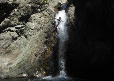 Canyon du Llech ici on lache la corde pour sauter