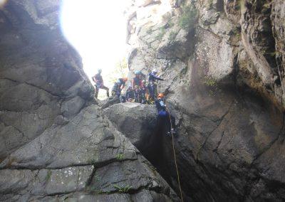Canyon du Llech l'apprentissage du rappel