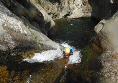 Canyon du Llech c'est aussi des enchainements de toboggans